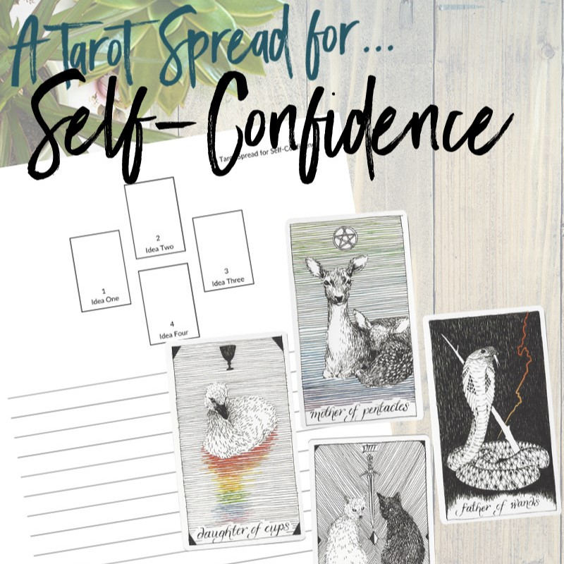 Get this free PDF tarot spread about self-confidence from Learn Tarot With Me. The tarot cards shown are from The Wild Unknown Tarot Deck available at www.thewildunknown.com. #thewildunknown #tarotcardmastery