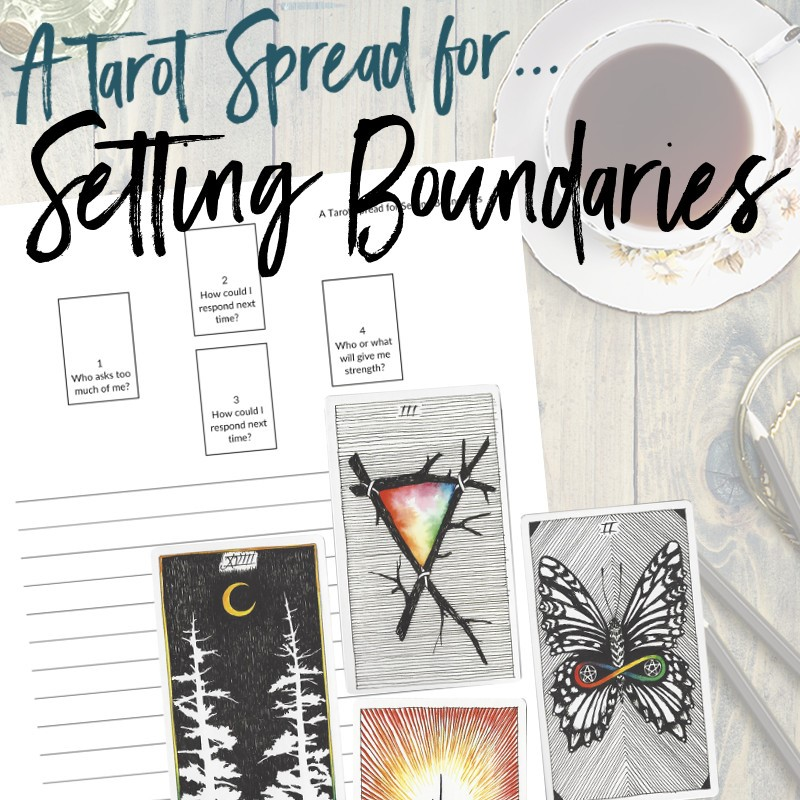 Get this free PDF tarot spread about setting boundaries from Learn Tarot With Me. The tarot cards shown are from The Wild Unknown Tarot Deck available at www.thewildunknown.com. #thewildunknown #tarotcardmastery